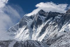 Dramatic view over Himalaya mountains on a cloudy. Dramatic view over Himalaya mountains on a cloudy day. Brilliant photo royalty free stock photography
