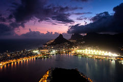Dramatic View of Rio de Janeiro by Sunset Stock Photography