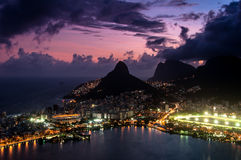 Dramatic View of Rio de Janeiro by Sunset Royalty Free Stock Photos
