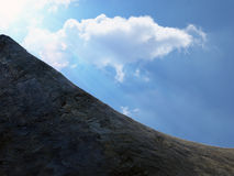 Dramatic view of a rocky hill side Stock Photo