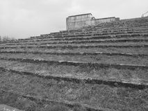 Dramatic view up the spectator steps surrounding the former Nazi Party rally grounds Stock Photo