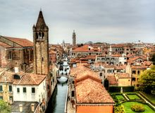 Dramatic view in Venice, Italy royalty free stock photo