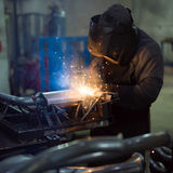 Dramatic view of a worker Stock Image