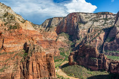 Dramatic View of Zion National Park Royalty Free Stock Image