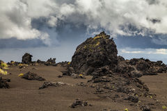 Dramatic views of the volcanic landscape. Stock Images