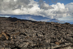 Dramatic views of the volcanic landscape. Royalty Free Stock Images
