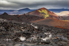 Dramatic views of the volcanic landscape. Royalty Free Stock Photography