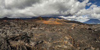 Dramatic views of the volcanic landscape. Royalty Free Stock Photos
