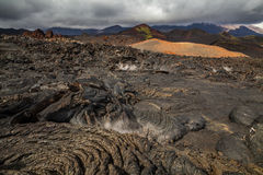 Dramatic views of the volcanic landscape. Stock Image