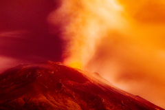 Dramatic Volcanic Eruption Long Exposure Royalty Free Stock Image