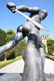 Dramatic Warrior statue at blenheim stock photography