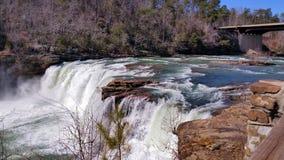 Dramatic  Waterfall Blue & Green Stock Photography