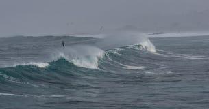 Dramatic waves stock image