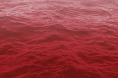 Dramatic waves of red water royalty free stock images