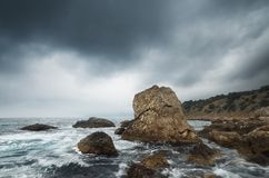 Dramatic weather at sea Royalty Free Stock Images