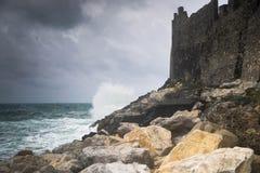 Dramatic weather storm in Portovenere Royalty Free Stock Photo