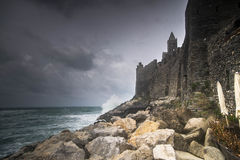 Dramatic weather storm in Portovenere Stock Images