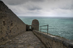 Dramatic weather storm in Portovenere Royalty Free Stock Photos