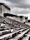 Dramatic west view of the defunct tribune of the former Nazi Party rally grounds Stock Photos