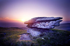 Dramatic Wild Moorlands Sunset Stock Images