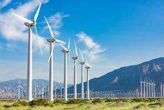 Free Dramatic Wind Turbine Farm In The Deserts Of California. Stock Image - 116034291