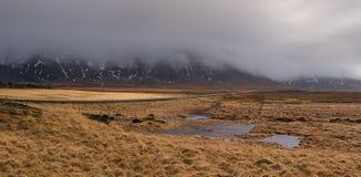 Dramatic winter Icelandic landscape Royalty Free Stock Photos