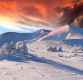 Dramatic winter landscape Stock Photos