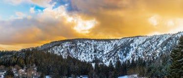 Dramatic winter landscape near the White Lake stock photography