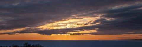 Dramatic winter sunset royalty free stock photography