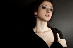 Dramatic woman portrait Royalty Free Stock Photography