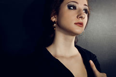 Dramatic woman portrait Royalty Free Stock Image