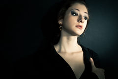 Dramatic woman portrait Royalty Free Stock Images