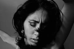 Dramatic woman portrait Stock Image