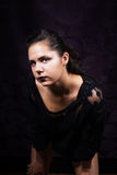 Dramatic Young Female Portrait Royalty Free Stock Photo