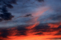 The Dramatically cloudy evening Sky Stock Image