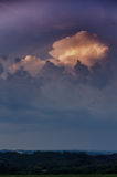 Dramatically illuminated clouds Royalty Free Stock Photos