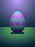 Dramatically lit easter egg Royalty Free Stock Photos
