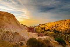 Dramatisch landschap bij zonsondergang Stock Foto
