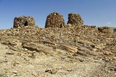 Dramatisch opgesteld boven op een rotsachtige rand, de Bijenkorfgraven royalty-vrije stock fotografie