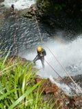 Waterval Abseil Stock Afbeeldingen