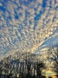 Dramatisch Wolkenpatroon Royalty-vrije Stock Afbeelding
