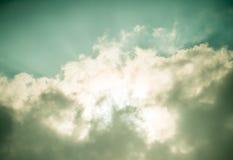 Dramatische bewolkte hemel Royalty-vrije Stock Foto