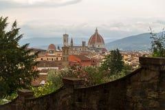 Dramatische cityscape van Florence, Italië stock afbeelding
