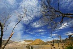 Dramatische cloudscape bij Onderstel Bromo, Oost-Java Royalty-vrije Stock Fotografie