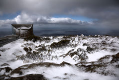 Dramatische cloudscape, zet Wellington op royalty-vrije stock foto