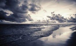 Dramatische donkere wolken, Dominicaanse republiek Stock Afbeelding