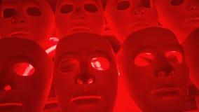 Dramatische geheimzinnigheid maskers stock footage