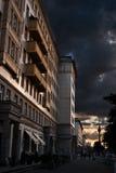 Dramatische hemel in Berlijn Stock Afbeelding