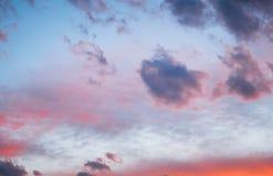 Dramatische hemel en wolken stock foto