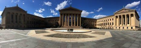 Dramatische hemelen boven het Museum van de Kunst van Philadelphia Royalty-vrije Stock Afbeeldingen